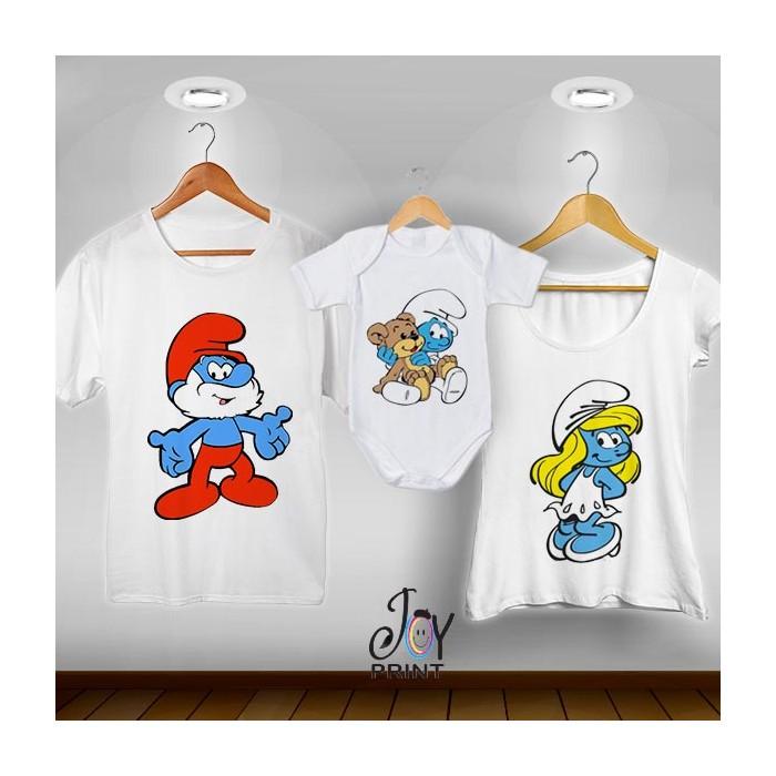 Tris T-shirt/body  Puffi