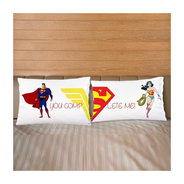 Coppia di federe Love Superman