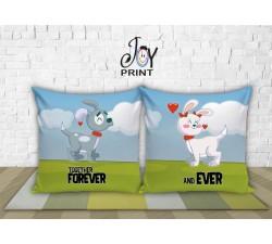 Coppia di cuscini  Personalizzati Love DOG