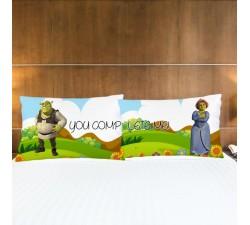 Coppia di Federe Love Shrek e Fiona