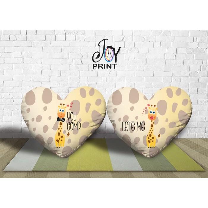 Coppia di cuscini  Personalizzati Love GIRAFF
