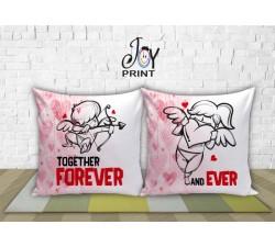 Coppia di cuscini  Personalizzati Love MIRA PERFETTA