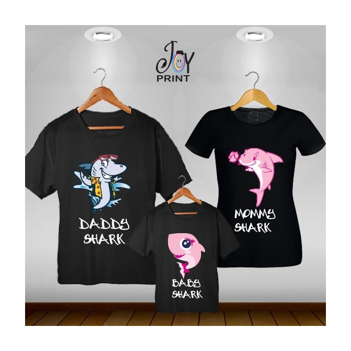 Tris T-shirt  Shark Nero
