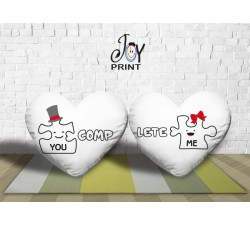 Coppia di cuscini  Personalizzati Love PUZZLE