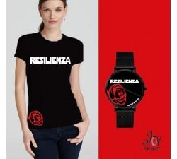 Tshirt+orologio Resilienza nero e rosso