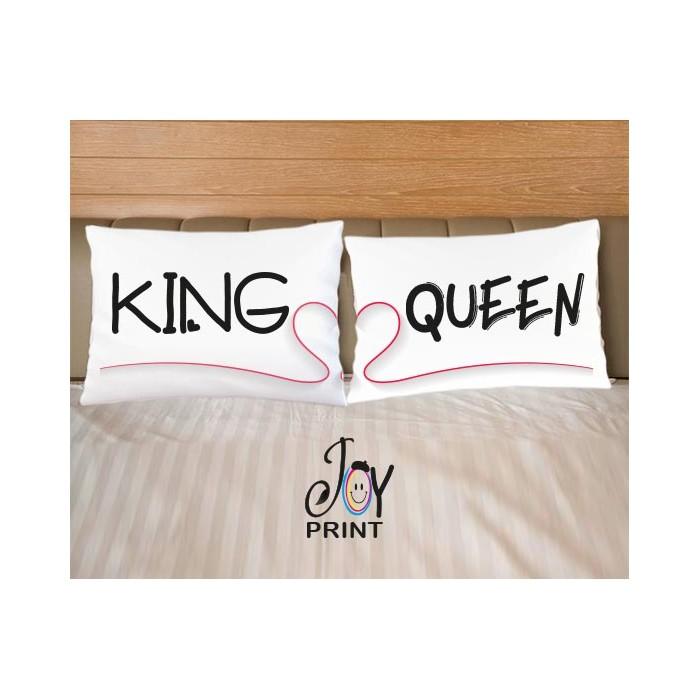 Coppia di federe King e Queen love