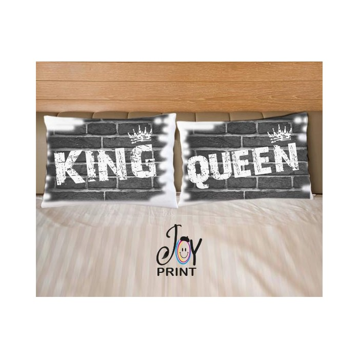 Coppia di federe King e Queen murales