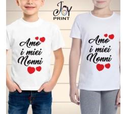 T Shirt bambino Festa dei Nonni Vi amo