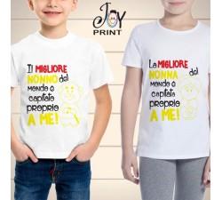 T Shirt bambino Festa dei Nonni Fortunati