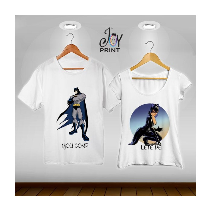 Coppia di tshirt Batman e Catwoman