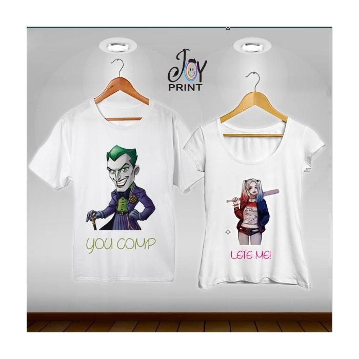 Coppia di tshirt Joker