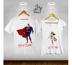 Coppia di tshirt Superman e Wonderwoman