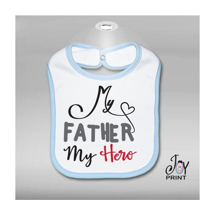 Bavaglino festa del papà hero - idea regalo