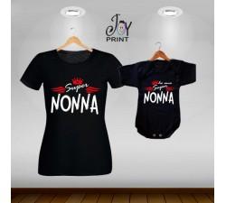 Coordinato t shirt festa dei nonni Eroi nero