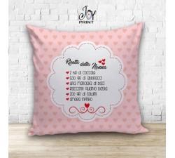 Cuscino Personalizzato idea regalo Festa dei nonni Ricetta