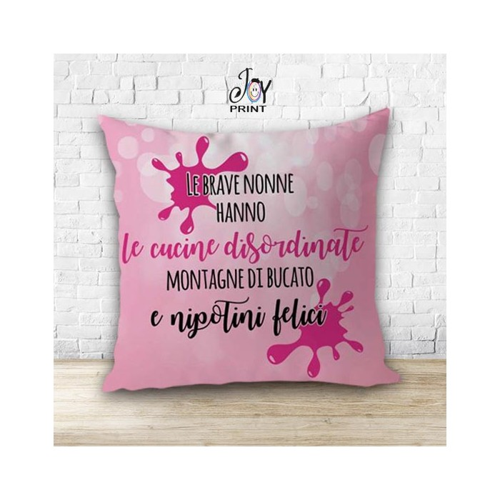 Cuscino Personalizzato idea regalo Festa dei nonni Felicità