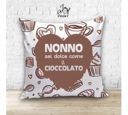 Cuscino Personalizzato idea regalo Festa dei nonni Ciocolate