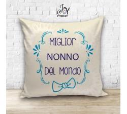 Cuscino Personalizzato idea regalo Festa dei nonni Miglior del Mondo
