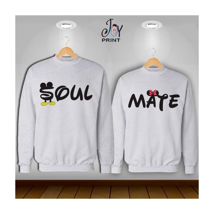 Coppia di felpe Soulmate  bianca