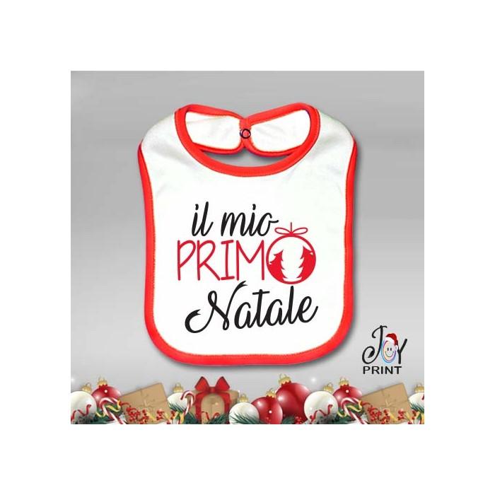 Bavetto Bavetta Bavaglino Personalizzato Natalizio Il Mio Primo Natale