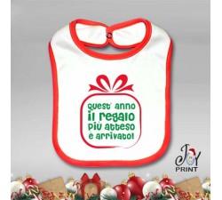 Bavetto Bavetta Bavaglino Personalizzato Natalizio Gift Idea Regalo