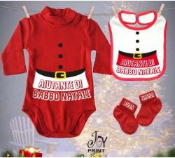 Tris Baby Natale Personalizzato Aiuto Natale