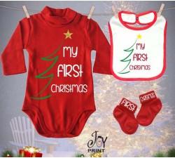 Tris Baby Natale Personalizzato Primo