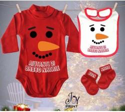 Tris Baby Natale Personalizzato Olaf