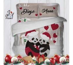 Copripiumino con Federe Natale Panda