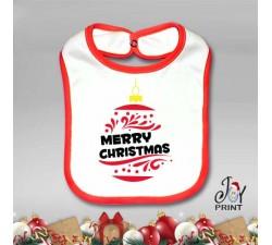 Bavetto Bavetta Bavaglino Personalizzato Natalizio Christmas Ball Idea Regalo