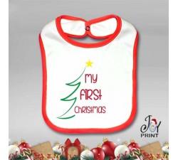 Bavetto Bavetta Bavaglino Personalizzato Natalizio Christmas Tree Idea Regalo