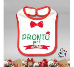 Bavetto Bavetta Bavaglino Personalizzato Natalizio Preparativi Idea Regalo