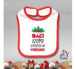 Bavetto Bavetta Bavaglino Personalizzato Natalizio Baci Baci Idea Regalo