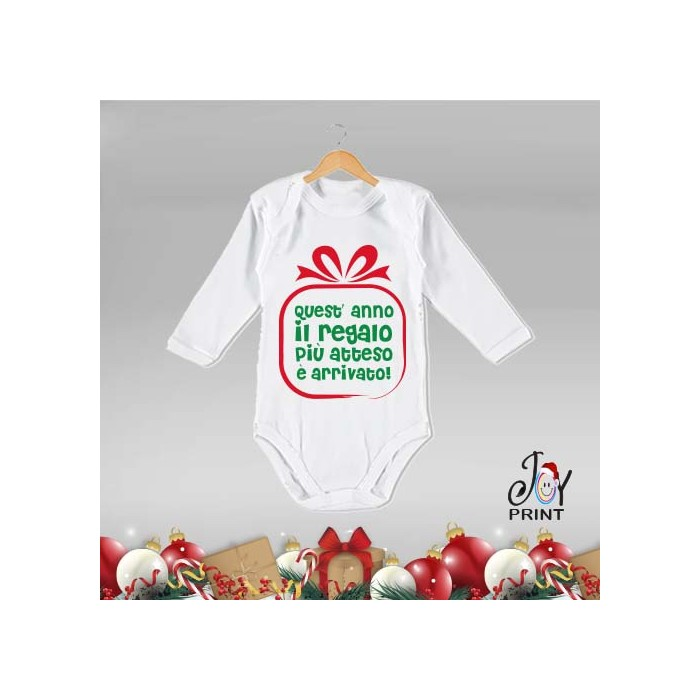 Body Neonato Personalizzato Natalizio Gift