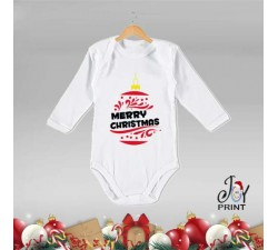 Body Neonato Personalizzato Natalizio Christmas Ball