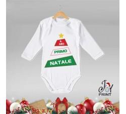 Body Neonato Personalizzato Natalizio Primo Alberello