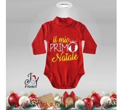 Body Lupetto Neonato Personalizzato Natalizio Il mio Primo Natale