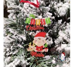Addobbo Palla in Plexiglass di Natale Personalizzata Primo Natale Idea Regalo