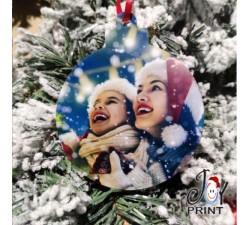 Addobbo Palla in Plexiglass di Natale Personalizzata con foto Idea Regalo