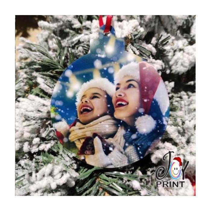 Addobbo Palla in Plexiglass di Natale Personalizzata con foto