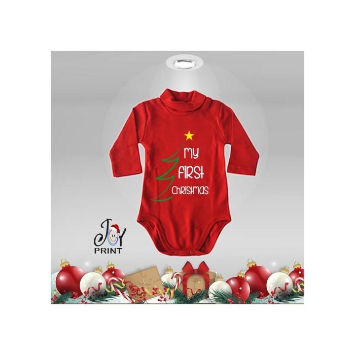 Body Lupetto Neonato Personalizzato Natalizio Christmas Tree