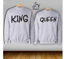 Coppia di felpe king e Queen
