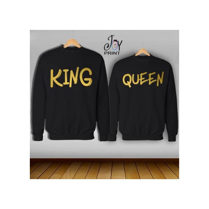 Coppia di felpe king e Queen Oro