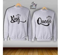 Coppia di felpe king e Queen Royalty