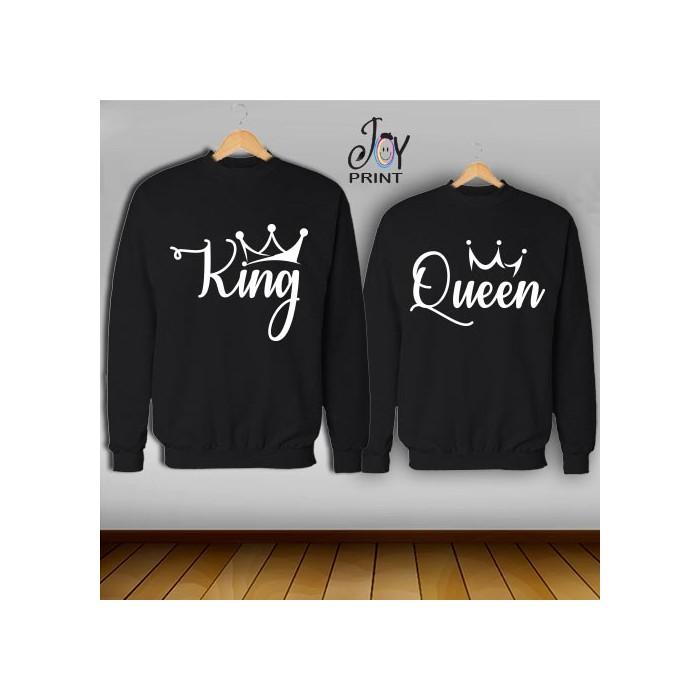 Coppia di felpe king e Queen Reali