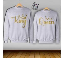 Coppia di felpe king e Queen Oro Reali