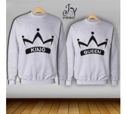 Coppia di felpe king e Queen Corona