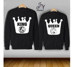 Coppia di felpe king e Queen Leoni