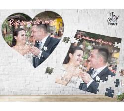 Puzzle Personalizzato con foto e frase Love