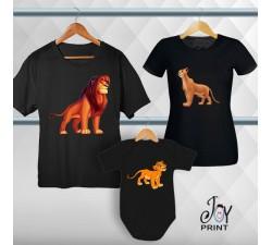 Tris T-shirt/body  Re Leone Nero